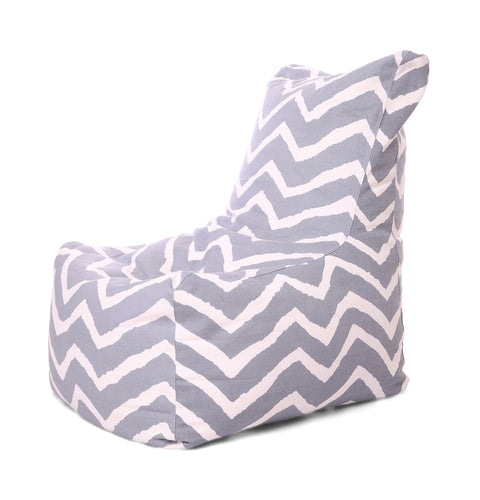 Black and White XXL Chair Stripes Cover Without Fillers (Bean Bag)