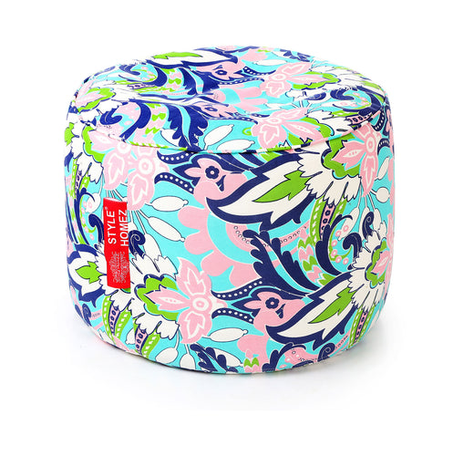 Blue Large Ottoman Bean Bag Cover Without Fillers (Ottoman)