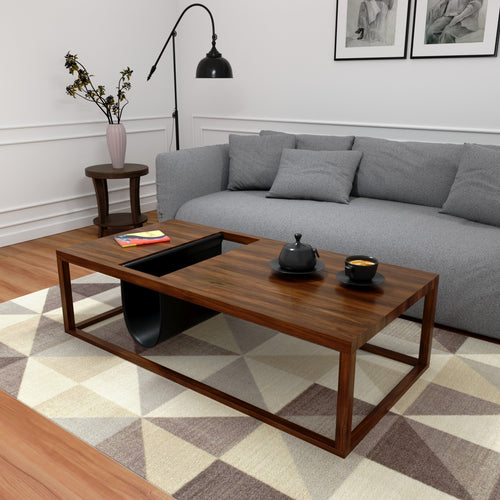 Amelia Coffee Table In Burma Teak Wood With 1000 Days Warranty