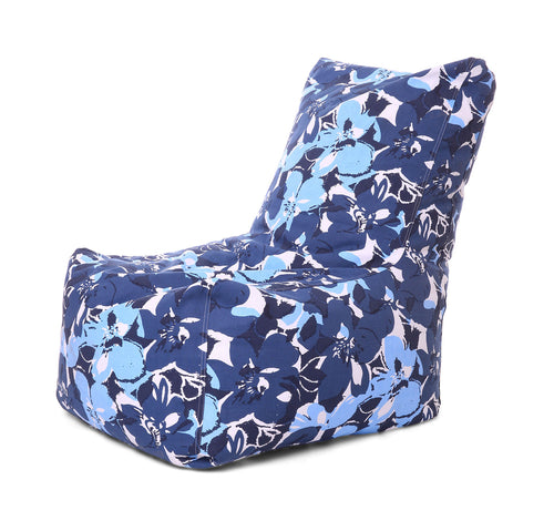 Multi Colour XXL Chair Floral Printed Bean Bag With Fillers (Bean Bag)