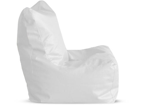 Elegant White XL Bean Bag Chair Cover Without Fillers (Bean Bag)