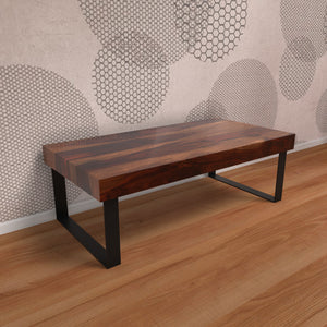 Good Times Center Table In Dark Honey Polish With One Year Warranty