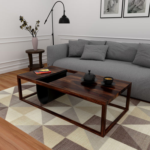 Amelia Coffee Table In Sheesham Wood With 1000 Days Warranty