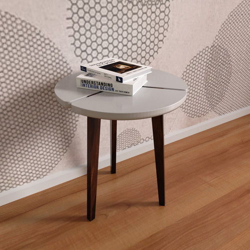 Linda Side Table In Sheesham Wood With 1000 Days Warranty