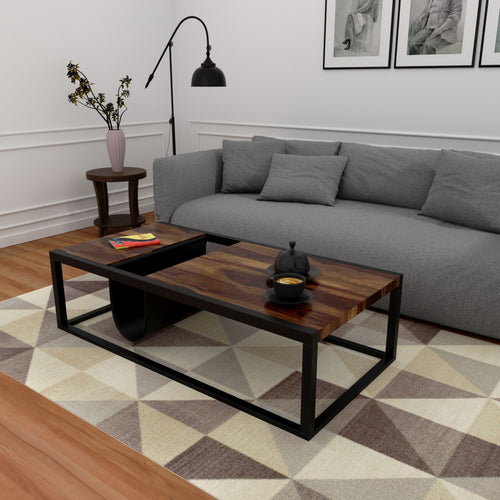 Emilio Coffee Table In Sheesham Wood With 1000 Days Warranty