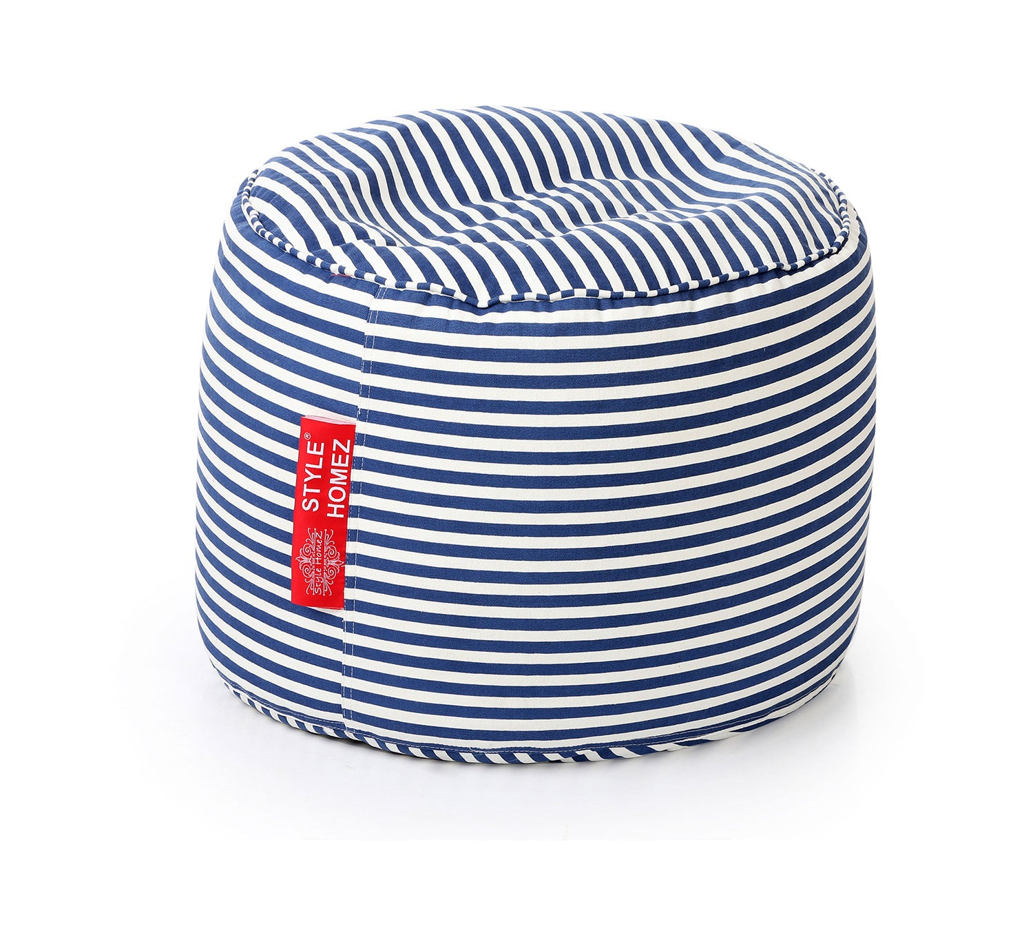 Swell Black And White Large Ottoman Round Stripes With Fillers Pdpeps Interior Chair Design Pdpepsorg