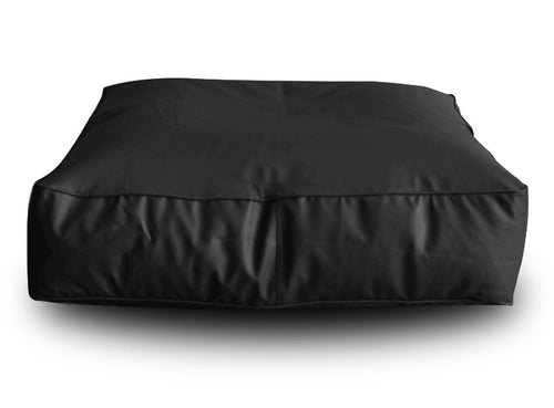 Black XL Floor Cushion Cover Without Fillers (Bean Bag)
