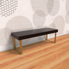 Industrial Charm Bench In Ebony Polish With One Year Warranty