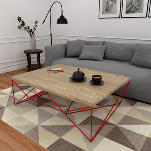 Fete Coffee Table In Pine Wood With 1000 Days Warranty