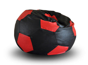 Black And Red XXL Football Bean Bag Cover Without Fillers (Bean Bag)