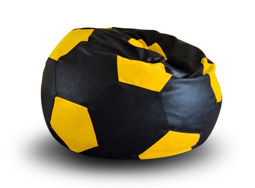 Black and Yellow XXL Football Bean Bag Cover Without Fillers (Bean Bag)