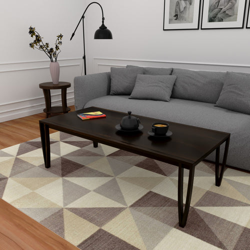 Niall Dark Coffee Table In Sheesham Wood With 1000 Days Warranty