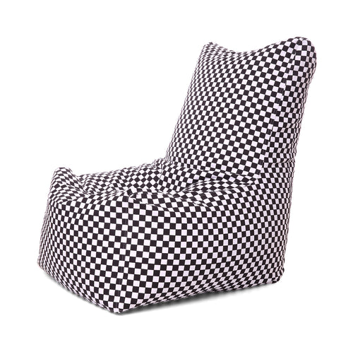 Multi Colour XXL Chair Checkered Printed Bean Bag With Fillers (Bean Bag)