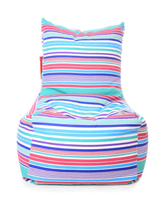 Blue XXL Chair Stripes Cover Without Fillers (Bean Bag)