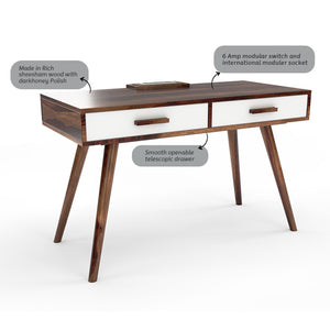 Retro Recharge Study Table with 1000 Days Warranty
