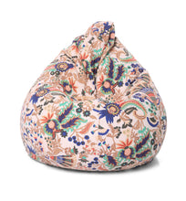 Multi Colour XL Classic Floral Cover Without Fillers (Bean Bag)