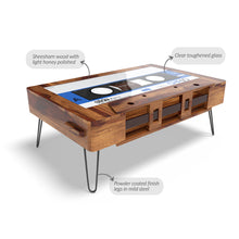 Retro Cassette Coffee Table In Sheesham Wood With 1000 Days Warranty