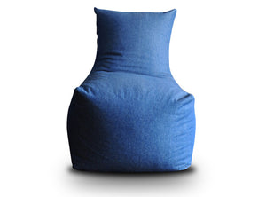 Blue XXL Chair Bean Bag Denim Cover Without Fillers (Bean Bag)