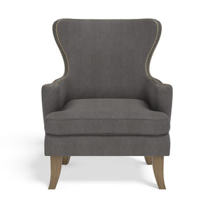 Stoa Paris Classic Recharge Wing Chair Grey With 1000 Days Warranty
