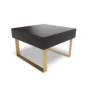 Glamorous Charm End Table In Ebony Polish With One Year Warranty