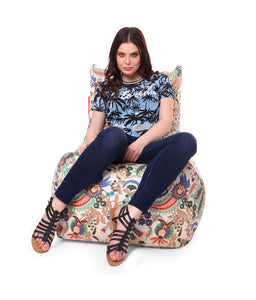 Multi Colour XXL Chair Bean Bag Cover Without Fillers (Bean Bag)