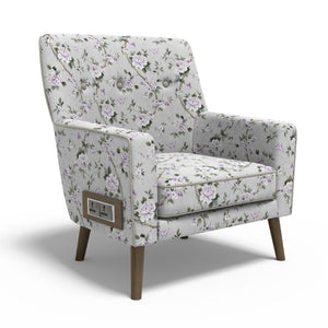 Stoa Paris Soulful Recharge Lounge Chair In Printed Fabric With 1000 Days Warranty