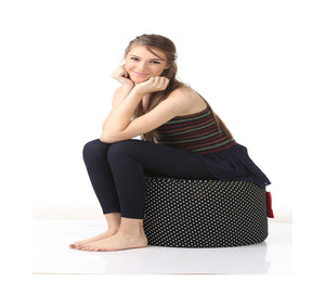 Black Large Ottoman Bean Bag Cover Without Fillers (Ottoman)