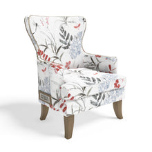 Stoa Paris Classic Recharge Wing Chair In Printed Fabric With 1000 Days Warranty