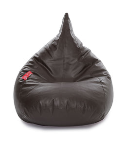Chocolate Brown XL Humbug Bean Bag Cover Without Fillers (Bean Bag)