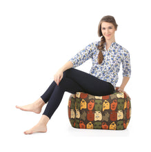 Black Large Ottoman Cover Without Fillers (Ottoman)