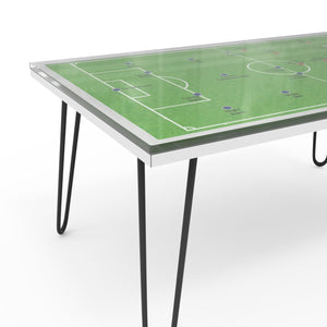 Football Centre Table In Plywood And Glass With 1000 Days Warranty