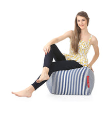 Black and White Large Ottoman Bean Bag With Fillers (Ottoman)