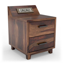 Rustic Recharge Side Table with 1000 Days Warranty