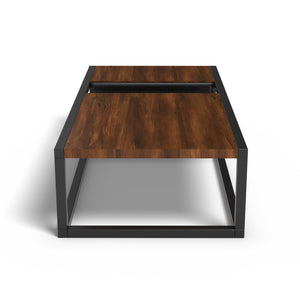 Emilio Coffee Table In Burma Teak Wood With 1000 Days Warranty