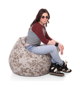 Multi Colour XL Abstract Bean Bag Cover Without Fillers (Bean Bag)