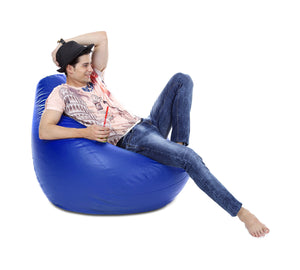 Blue XXXL Classic Bean Bag Cover Without Fillers (Bean Bag)