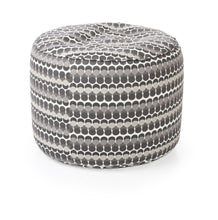 Black and White Large Ottoman Round Bean Bag With Fillers (Ottoman)