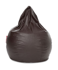 Chocolate Brown XXXL Sac Bean Bag Cover Without Fillers (Bean Bag)