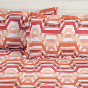 Swayam 144TC Geometrical Design Cotton Bedlinen