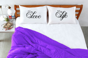 Stoa Paris Love Life Pillow Talk King Bedsheet Set
