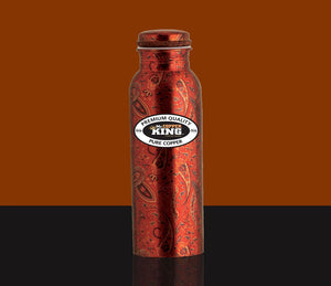 Mr Copper King Royal Printed Copper Bottle 950ml