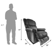 Steve Black Leather Recliner