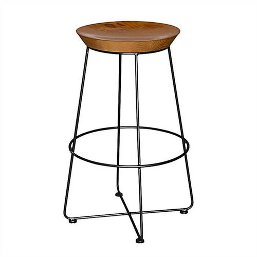 Durden Bar Stool In Teak Wood