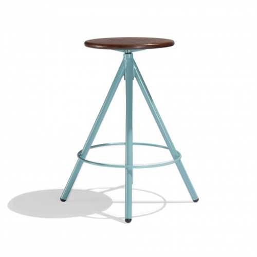 Kecoughtan Bar Stool In Teak Wood