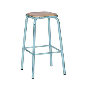 Bale Bar Stool In Teak Wood