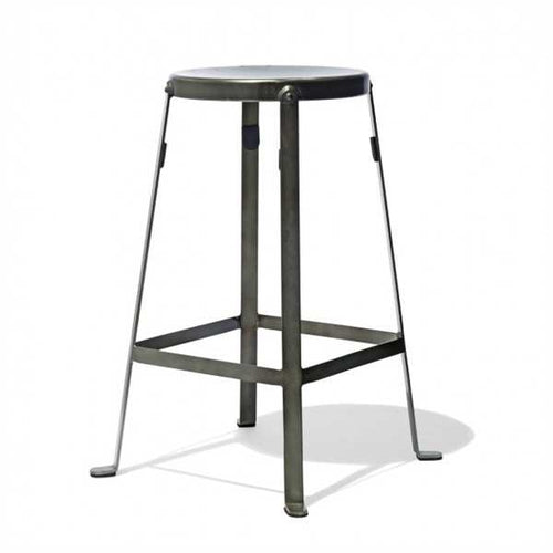 Mccann Bar Stool In Mild Steel