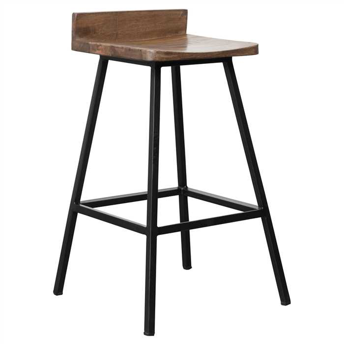 Christie Bar Chair In Mils Teel Black Finish