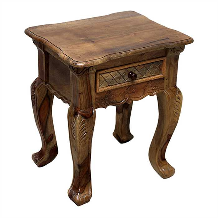 Fiona Bed Side Table In Sheesham Wood