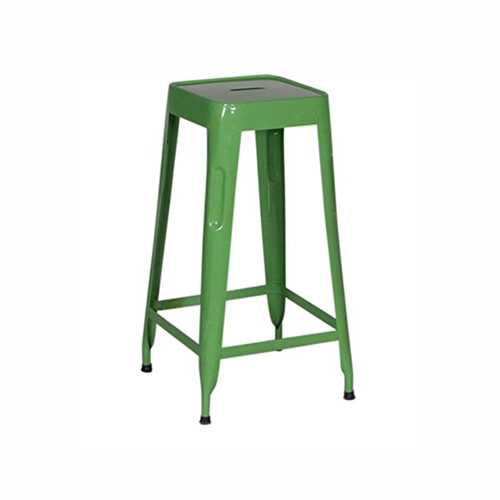 Stylo Stool In Metal With Green Finish