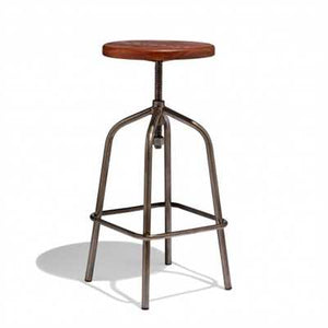 Conelh Bar Stool In Teak Wood